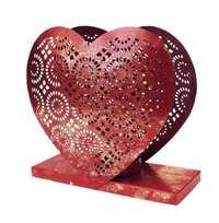 Beautiful Handmade Metal Heart Shape Tea Light Candle Holder Home Decor