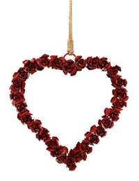 Decorations Artistic Handmade Rose Heart Wreath Wall Door Hanging Party Favors Gift Ideas