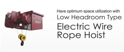 Low Headroom Type Rope Hoist