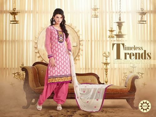 Designer Printed Cotton Punjabi Suit