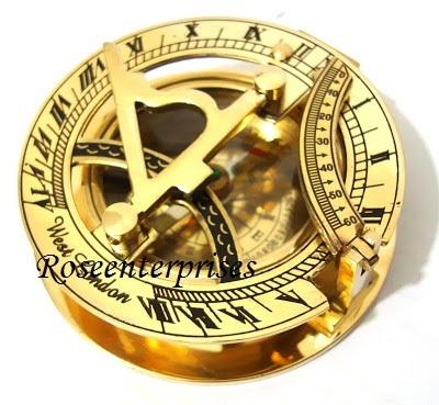 Nautical Brass Sundial Compass