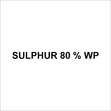 Sulphur 80 % Wp