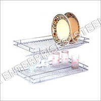 SS Glass Plate Shelf