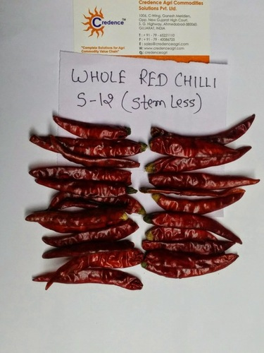 DRIED Whole SANAM Chilli With stem