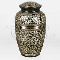 Elegante Brass Metal Cremation Urn