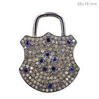 Diamond Blue Sapphire Silver Pendant