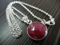 Bezel Set Drop  Necklace