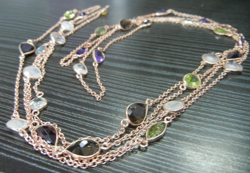 Multicolor Bezel Necklace