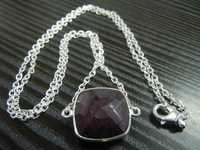 Silver Necklace Set with Gemstone