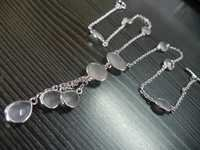 Bezel Set Teardrop Necklace