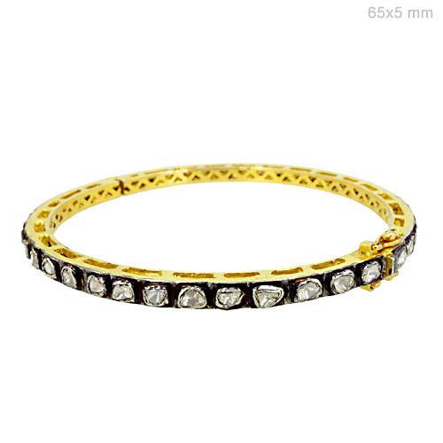 Diamond Gold Bangle Jewelry