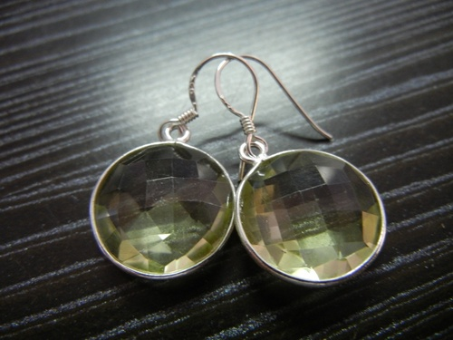 Lemon Quartz Silver Earring