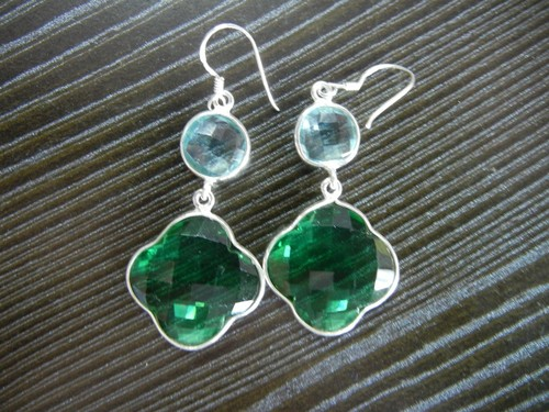 Sterling Silver Gemstone Earrings