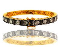 Gold Diamond Bangle Jewelry