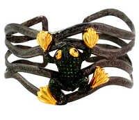 Tsavorite Gold Bangle Jewelry