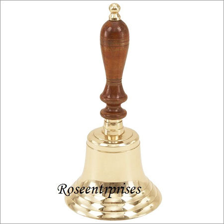 Brass Hand Held Bell For Worships