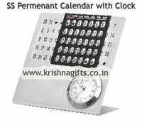 Calendar Permanant with Clock