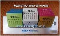 Calendar Revolving with Pen Holder