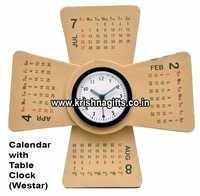Calendar with Table Clock We star