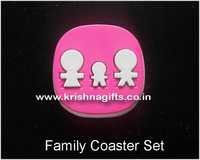 Coaster Set of 4 with stand Family