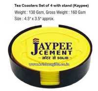 Coasters Set of 4 with stand Jaypee