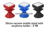 Mobile Stand with Ear Phone Holder Silicon Vacuum