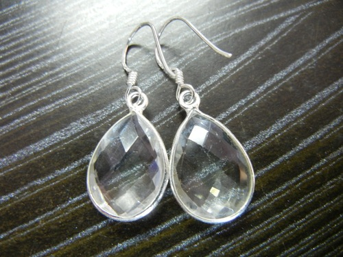 Crystal Quartz Sterling Silver Earring