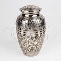 Silver Oak Brass Metal Cremation Urn