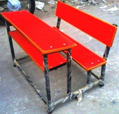 Colourful School Benches
