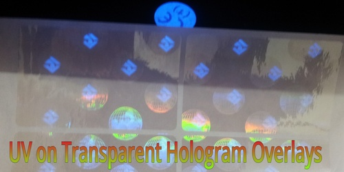 Holographic Overlay with UV