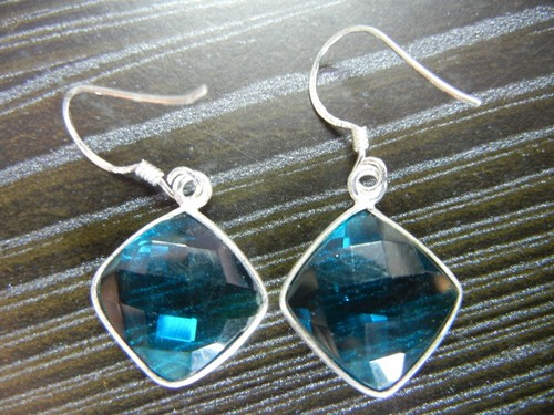 Sterling Blue Gemstone Earrings