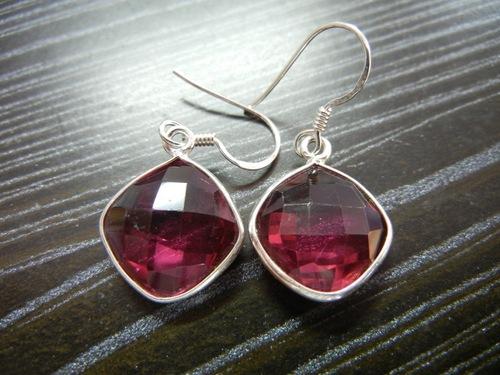 Red Quartz Sterling Silver Earring