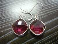 Red Quartz Sterling Silver Earring