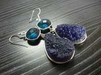 Druzy Sterling Silver Earrings