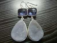Sterling Silver Bezel Earrings