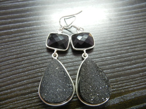 Druzy Bezel Earrings