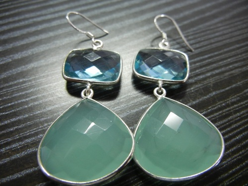Sterling Silver Gemstone Earings