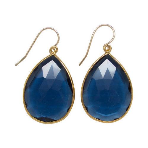 Blue Quartz Gemstone Drop Earring