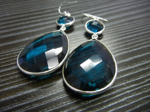 Sterling Silver Quartz Earings