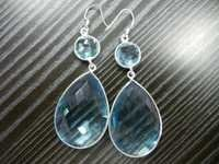 Sky Blue Quartz Earrings