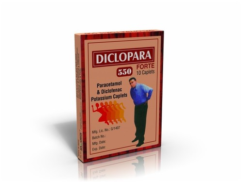 Paracetamol & Diclofenac Potassium Caplets