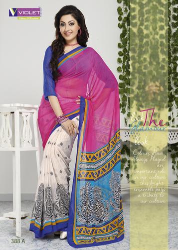 Designer Party Wear Printed Saree