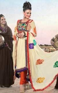 Embroidered Churidar Suit