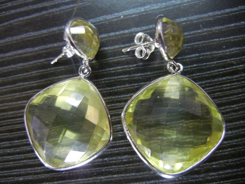 Lemon Quartz Earring