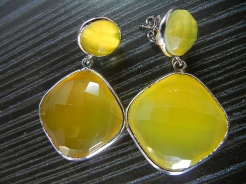 Yellow Chalcedony Earring