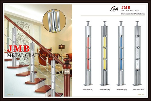 Stainless Steel with Acrylic Balluaster