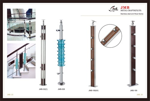 Stainless Steel Balluster With Crystals