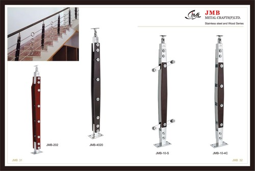 Stainless Steel With Wood Ballusters