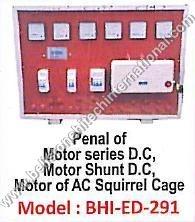 Panel of Motor series D.C, Motor Shunt D.C