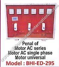 Panel of Motor AC series Motor
